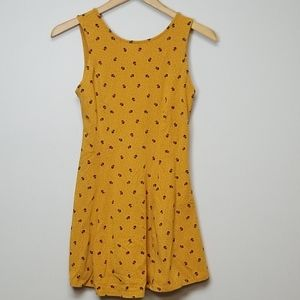 Forever 21 Womens Skater Dress Orange/Gold
